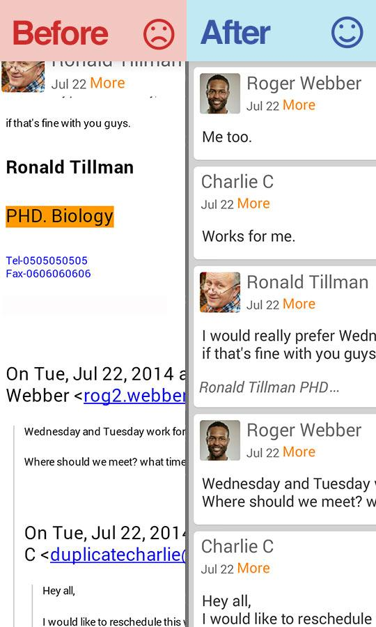 Email Exchange + by Mail Wise - screenshot