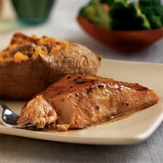 Sweet-Spicy Glazed Salmon
