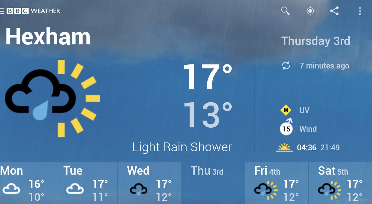 BBC Weather screenshot #13
