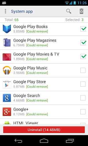 System app uninstaller  screenshots 1