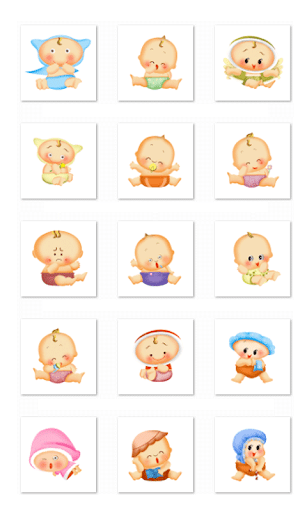 Cute Baby Stickers-Facebook