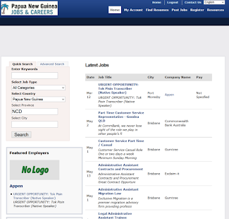 Papua New Guinea (PNG) Jobs- screenshot thumbnail