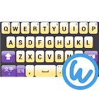 Violet keyboard image icon