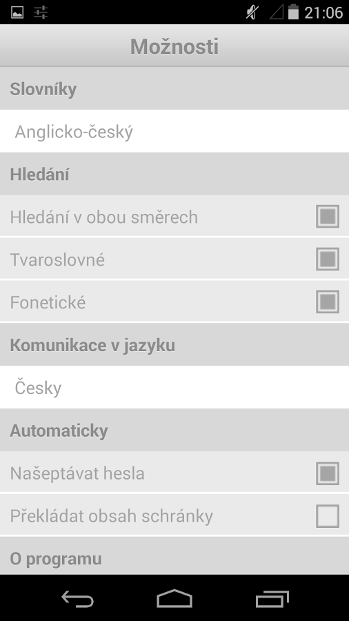 English-Czech Dictionary- screenshot