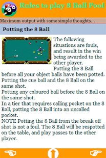 international 8 ball pool rules