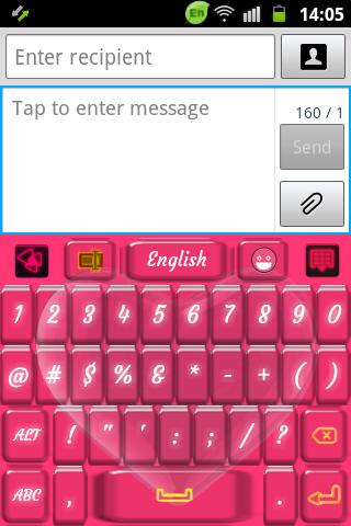 【免費個人化App】有光澤的紫紅色鍵盤-APP點子