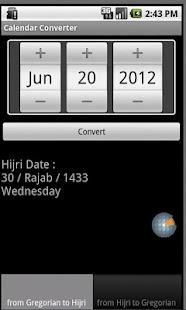 Calendar Converter- screenshot thumbnail