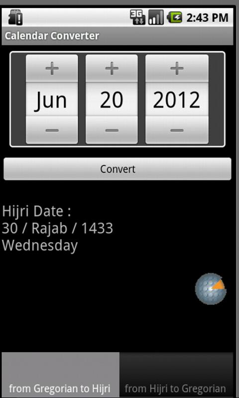 Calendar Converter - screenshot