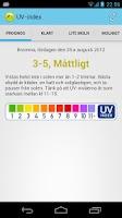Screenshot of UV Index