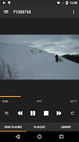 Screenshot of BubbleUPnP for DLNA/Chromecast