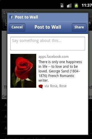 Send Rose Love Quotes - screenshot