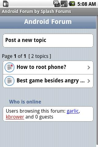 Android Forum - screenshot