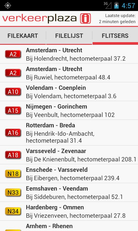 Verkeerplaza files en flitsers- screenshot