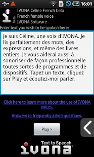 IVONA Céline French beta - screenshot thumbnail