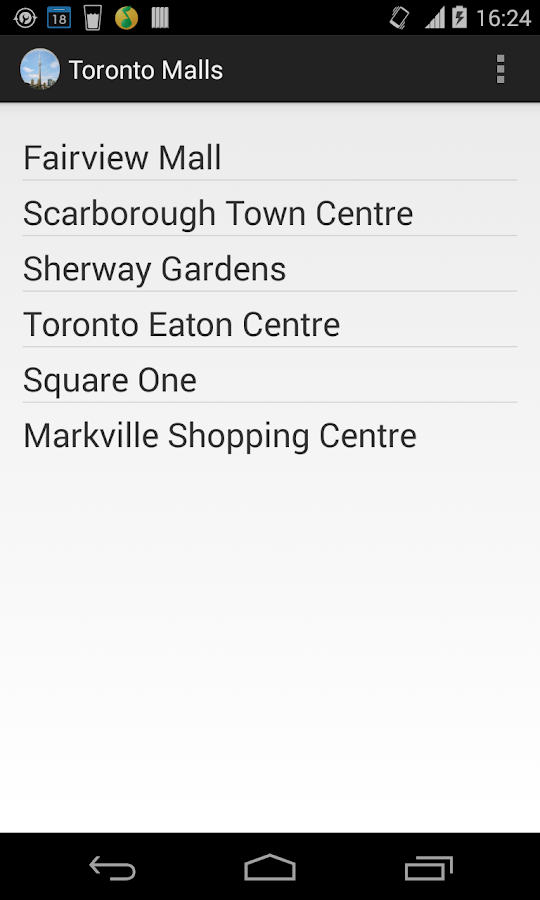 Toronto Mall Directory- screenshot