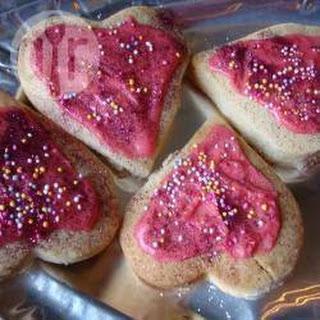 Valentine Heart-shape Sugar Cookies.