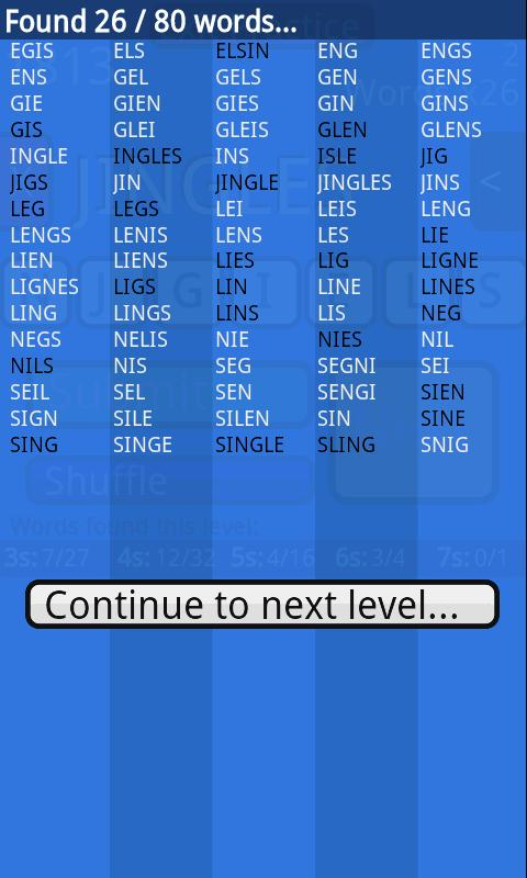 Word Run - screenshot