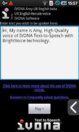 IVONA Amy UK English beta Screenshot 1