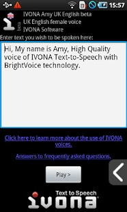IVONA Amy UK English beta- screenshot thumbnail