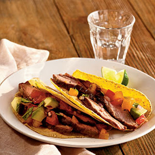 Grilled Flank Steak with Avocado and Two-Tomato Salsa