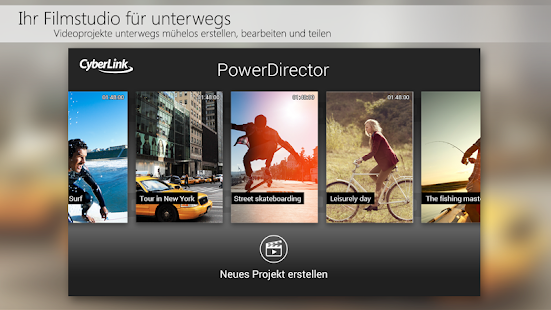 PowerDirector Videobearbeitung Screenshot