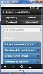 Piercing Schmuck Shop – Miniaturansicht des Screenshots