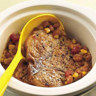 Pork Chops with Salsa Beans