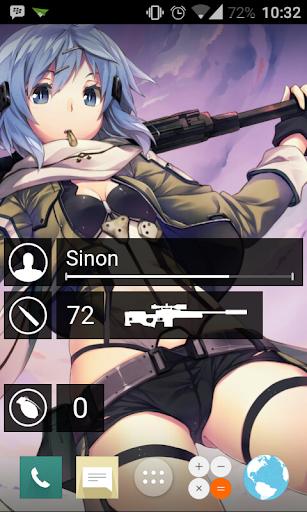 GGO SAO Widgets+ for Zooper
