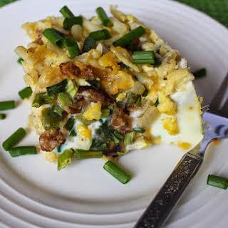 Crock Pot Sausage, Egg & Hashbrown Casserole.