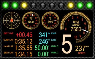 Screenshot of DashMeterPro for GTRx