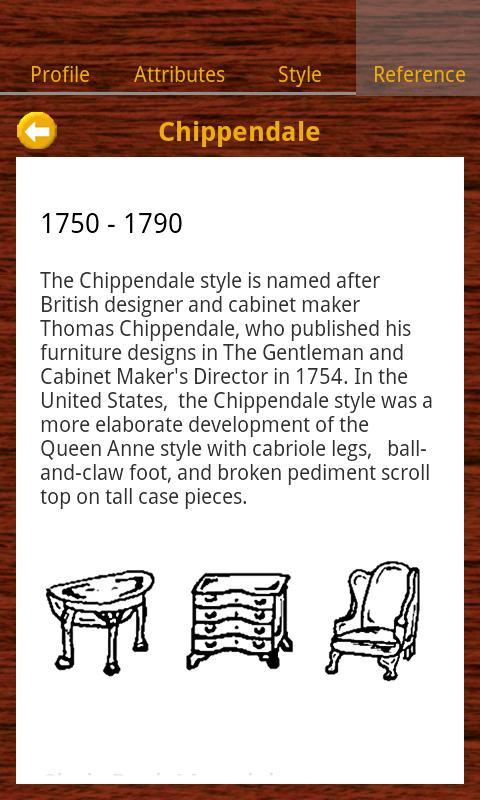 Furniture Styles- screenshot