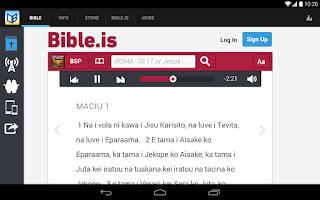 Screenshot of Bible Society South Pacific