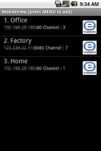 MobileView for E-Vizion DVR - screenshot thumbnail
