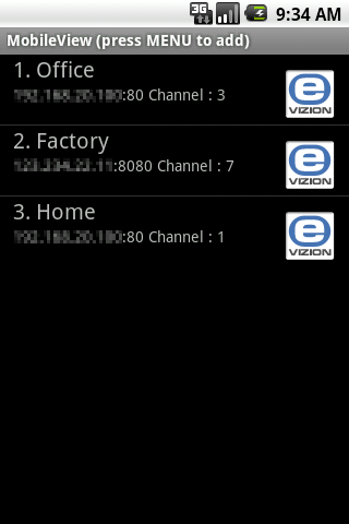 MobileView for E-Vizion DVR - screenshot