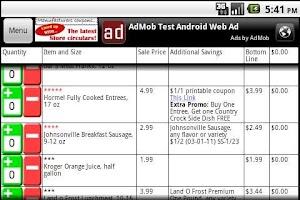 Screenshot of Grocery Smarts Coupon Shopper