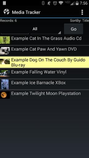 Media Tracker Movies etc..