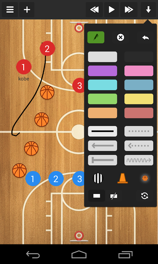 Basketball coach's clipboard - screenshot