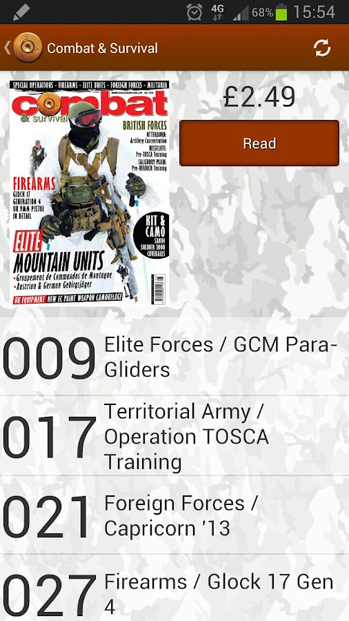 Combat & Survival Magazine- screenshot