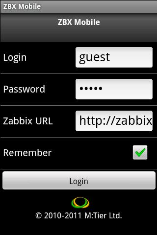 ZBX Mobile- screenshot