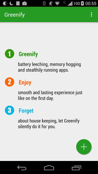 Greenify Donate Screenshot Image