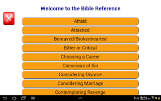 Screenshot of Quick bible reference