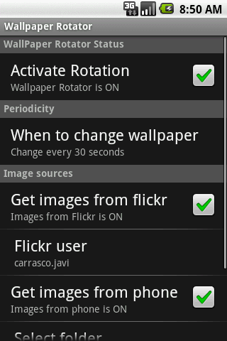 WallPaper Rotator- screenshot