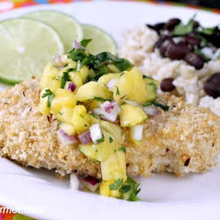 Caribbean Oven-Fried Chicken.