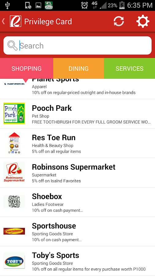 Robinsons Malls- screenshot