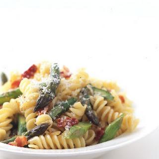 Fusilli with Asparagus and Bacon.
