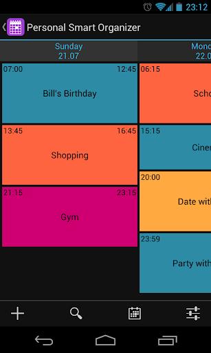 Organizer + Calendar + ToDo