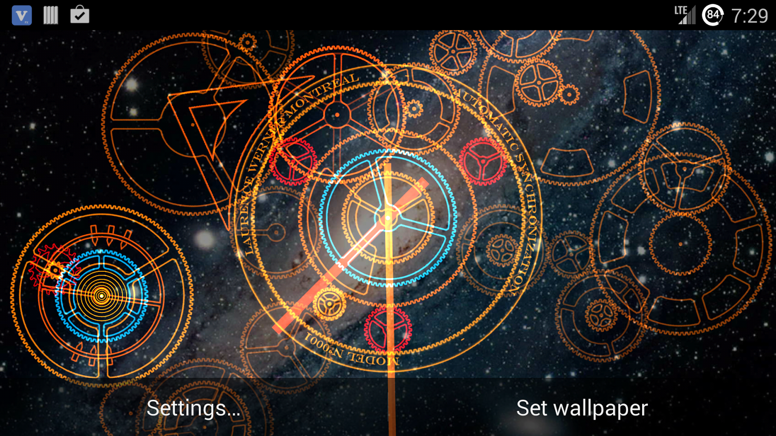 Clock Studio Live Wallpaper Apl Android Di Google Play