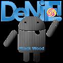 CM12 Theme  - Black Wood Blue