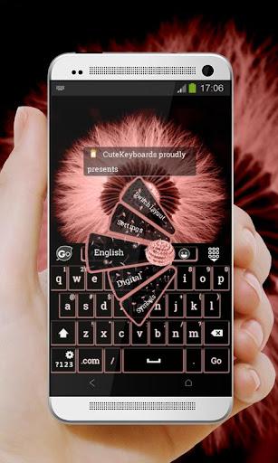 粉紅色的蒲公英 GO Keyboard Theme