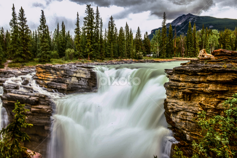 Athabasca Fall by Joseph Law - Landscapes Waterscapes